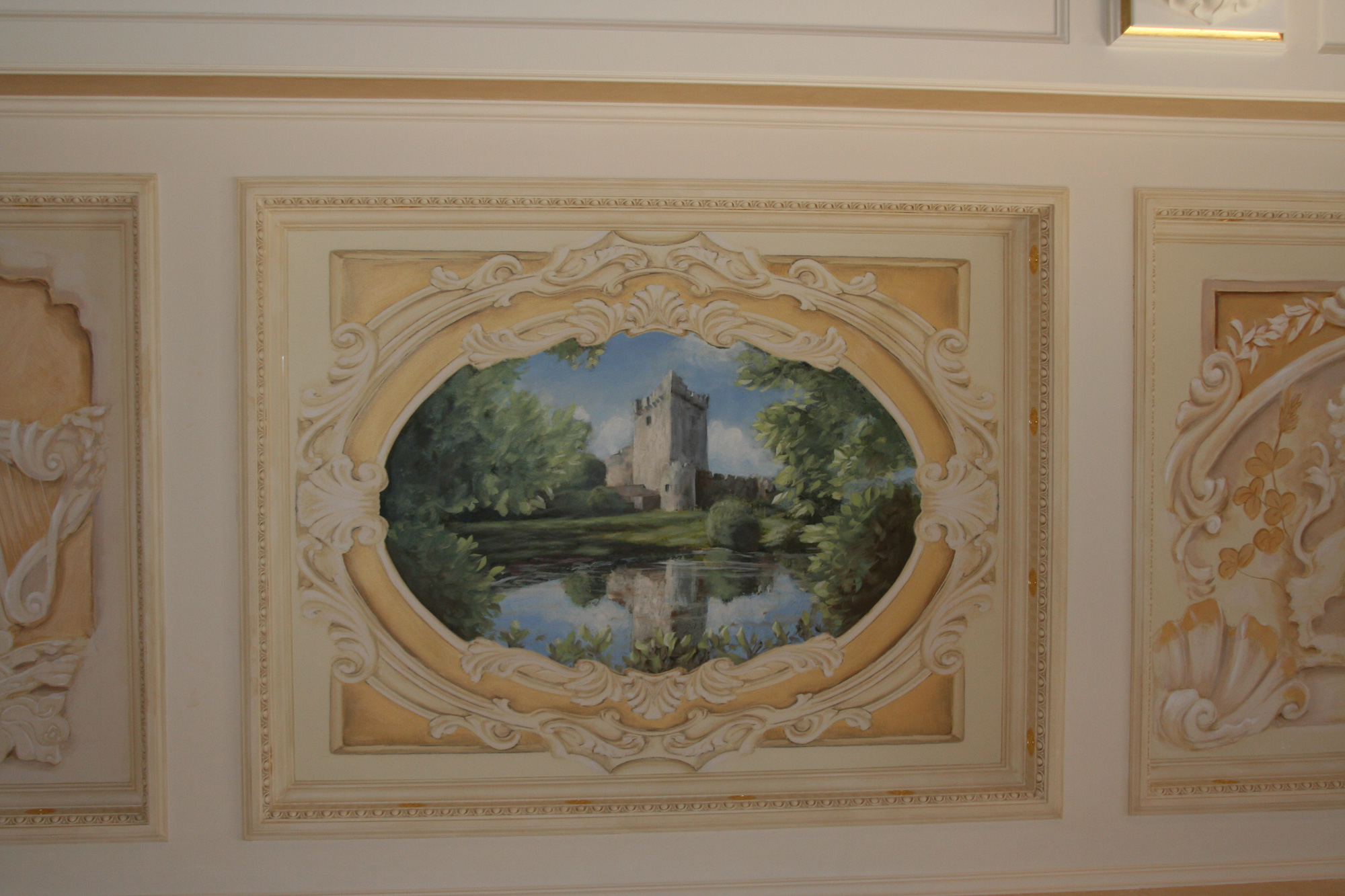 trompe l oeil murals artist naples o guin decorative finishes
