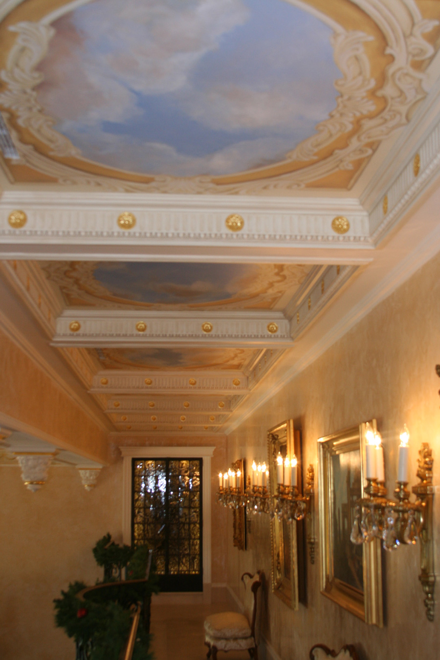 hand painted ceiling murals