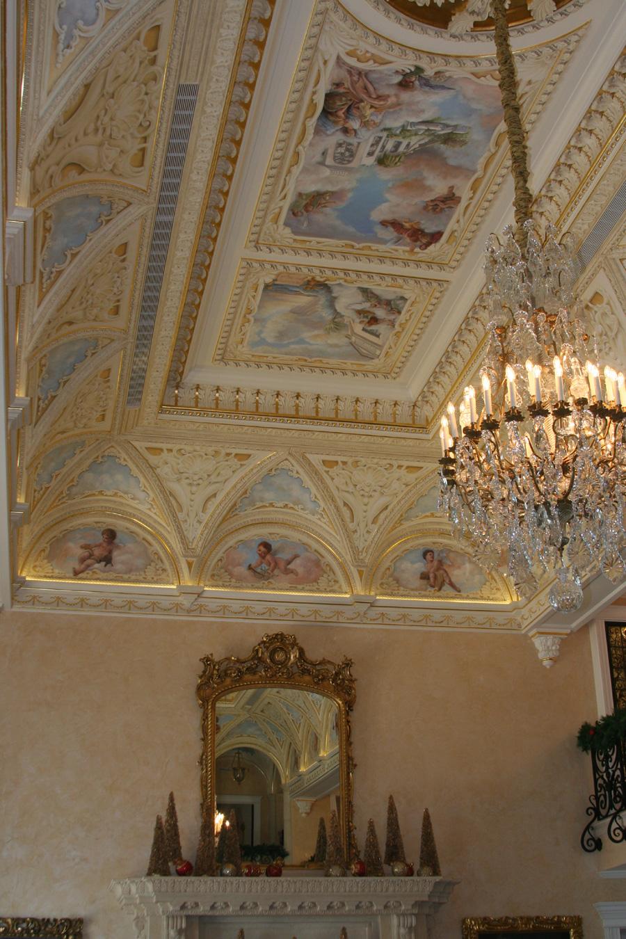 ornate ceiling mural